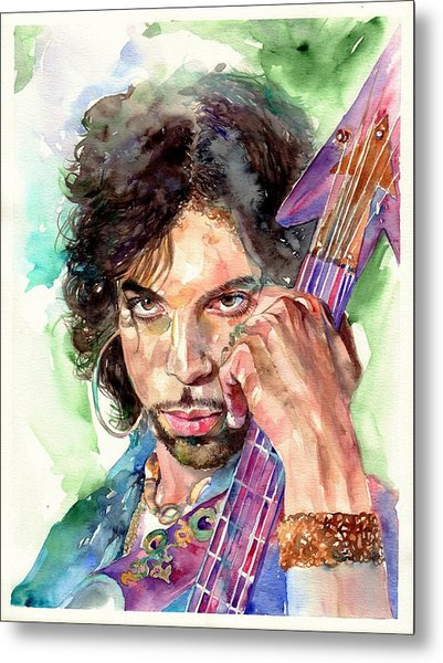 Prince Rogers Nelson Portrait Metal Print