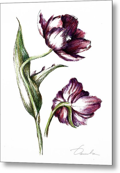 Purple Flower Metal Print