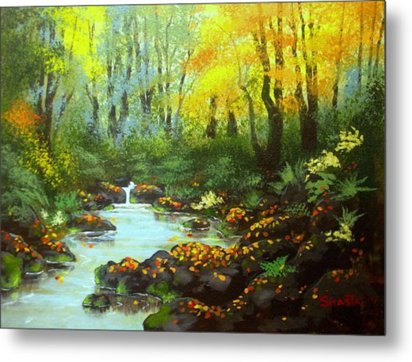 Quiet  Time And  Place Metal Print by Shasta Eone