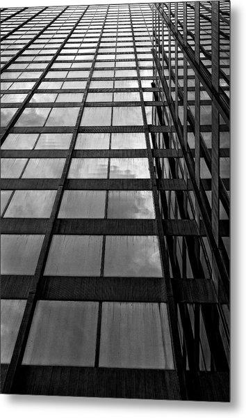 Reflective Glass And Metal Building Metal Print by Robert Ullmann