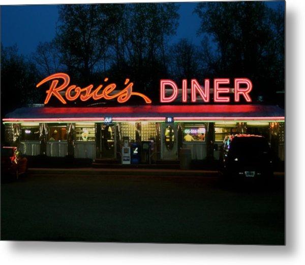 Rosie's Diner Metal Print