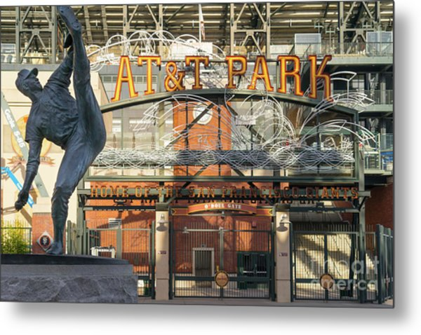 San Francisco Giants Att Park Juan Marachal O'doul Gate Entrance Dsc5790 Metal Print