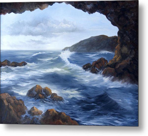 Seascape Metal Print by Thea Wolff
