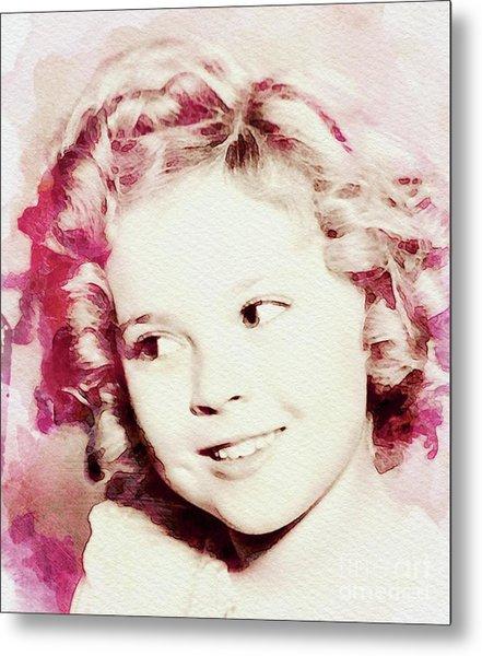 Shirley Temple, Vintage Actress Metal Print