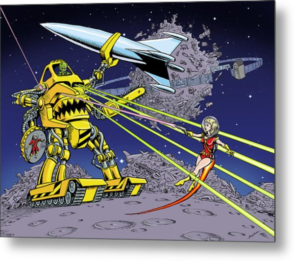 Space Junk Metal Print by Barry Munden