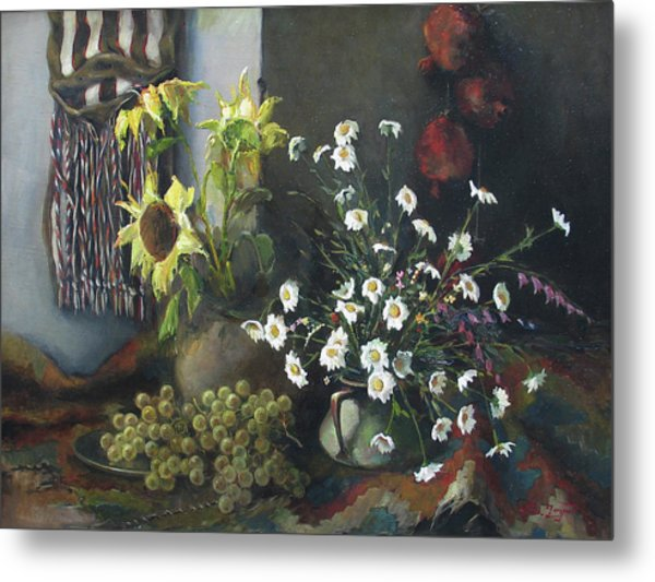 Still-life With Sunflowers Metal Print