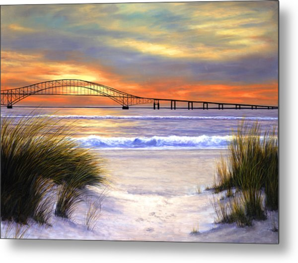 Sunset Over Robert Moses Metal Print