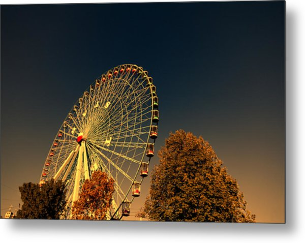 Texas Star Ferris Wheel Metal Print