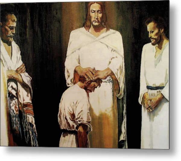 The Anointing Metal Print