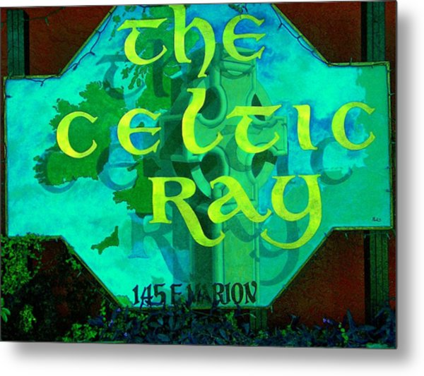 the Celtic Ray Metal Print by Charles Peck