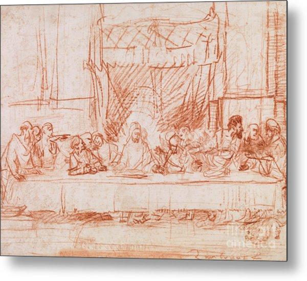 The Last Supper, After Leonardo Da Vinci Metal Print