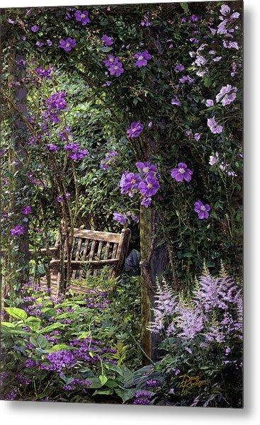 Violet Garden Respite Metal Print
