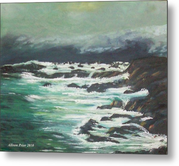 Waves In The Cove Metal Print by Allison Prior