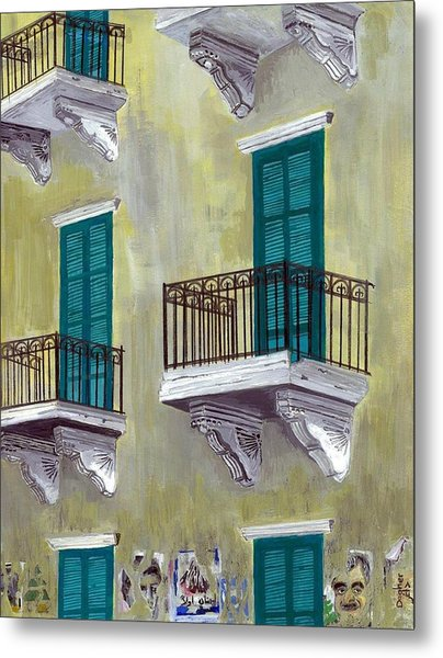West Beirut Terraces Metal Print