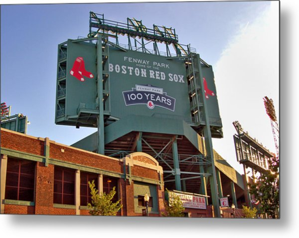100 Years At Fenway Metal Print