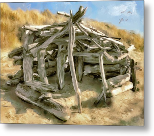 Driftwood Shelter Metal Print