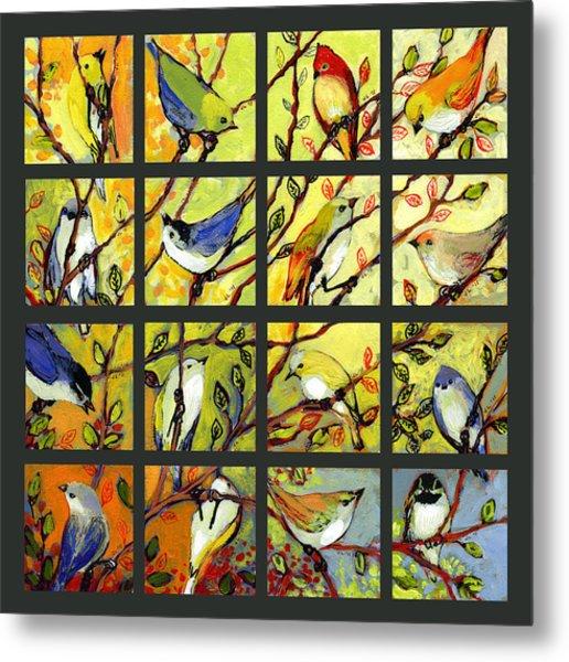 16 Birds Metal Print