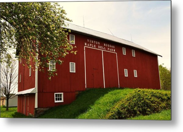 1855 Maple Dell Farm Barn Metal Print