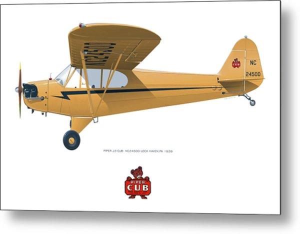 1939 Piper J3 Cub Metal Print