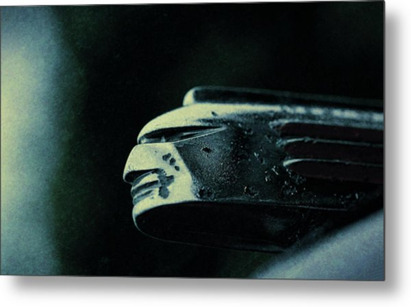 1939 Pontiac Silver Streak Hood Ornament Metal Print