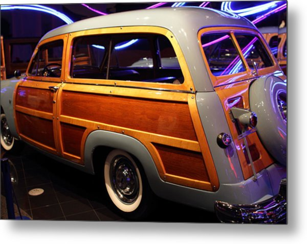 1951 Ford Country Squire - 7d17485 Metal Print by Wingsdomain Art and Photography