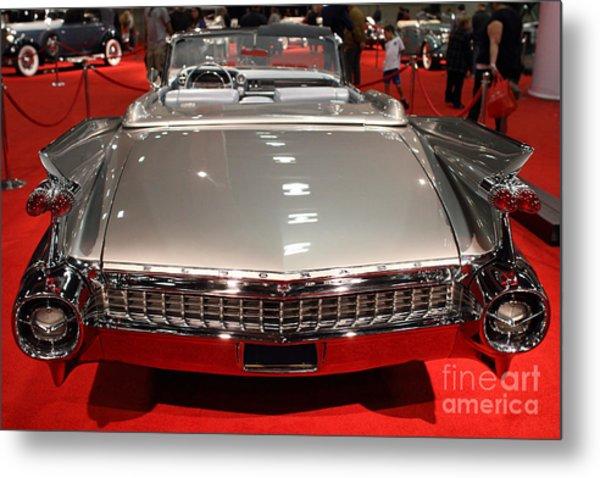 1959 Cadillac Eldorado Convertible . Rear View Metal Print by Wingsdomain Art and Photography
