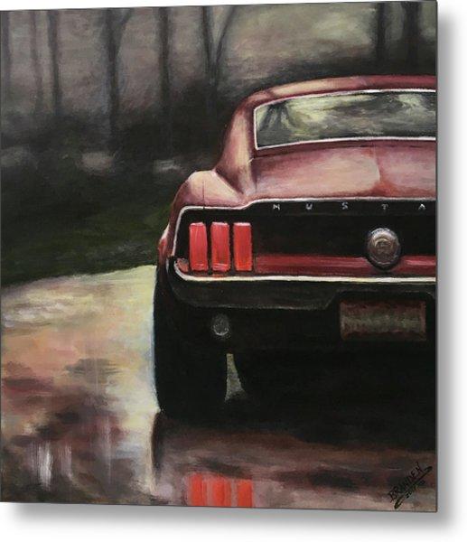 1967 Mustang Metal Print by Branden Hochstetler