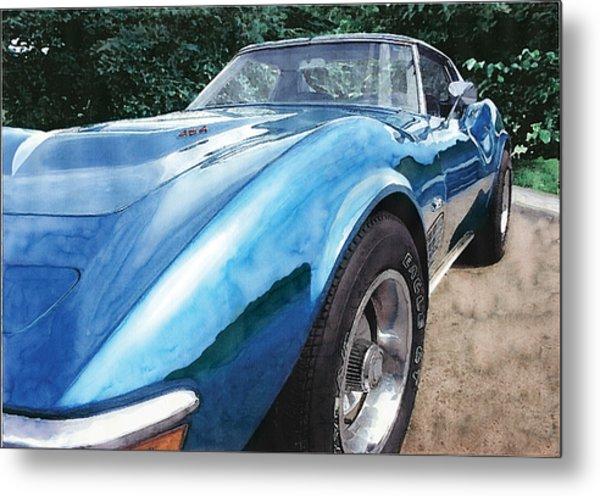 1972 Corvette Metal Print by Rod Seel