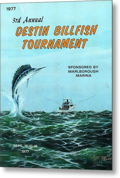 1977 Destin Billfish Tournament Metal Print
