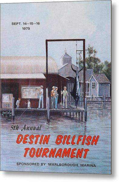 1979 Destin Billfish Tournament Metal Print