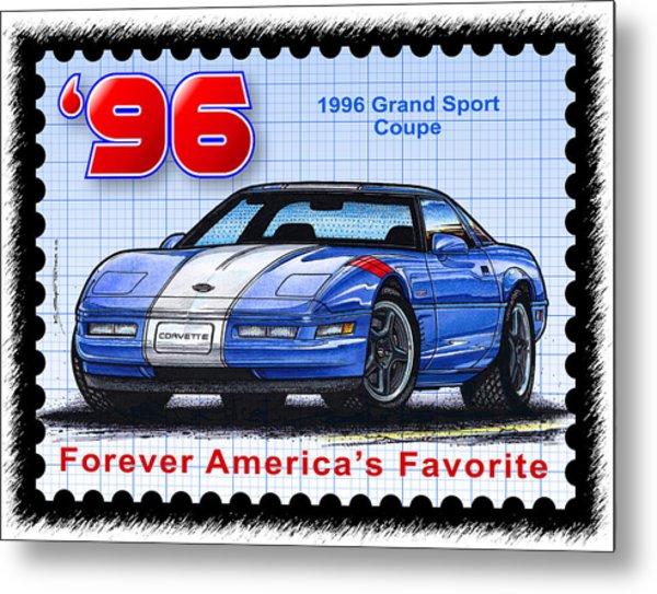 1996 Grand Sport Corvette Metal Print