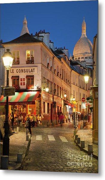 Montmartre Twilight Metal Print