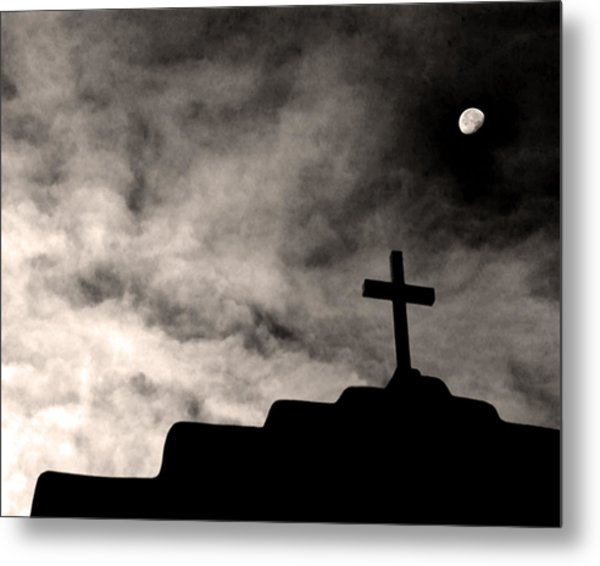 New Mexico Moon Metal Print