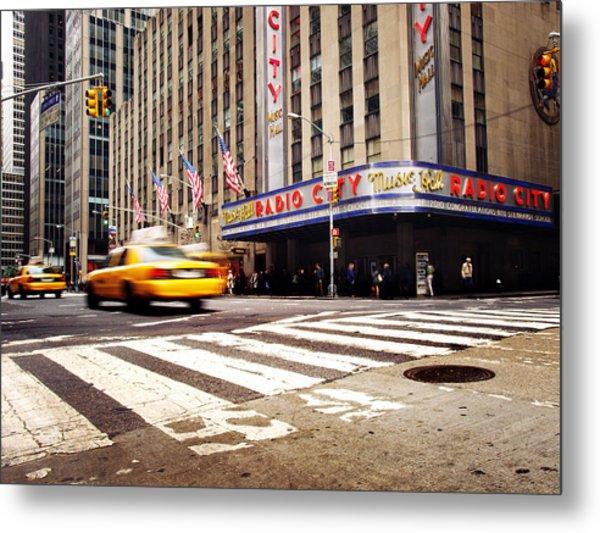 New York Taxi Street City Canvas Wall Art Picture Print Va: Nyc Radio City Music Hall Photograph By Nina Papiorek