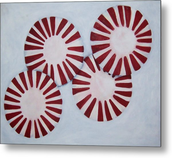 Peppermint Twist Metal Print by Penny Everhart