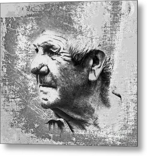 Portrait Of A Brittany Farmer Metal Print by Mark Hendrickson