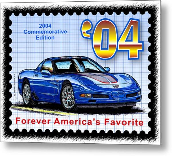 2004 Commemorative Edition Corvette Metal Print