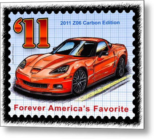 2011 Z06 Carbon Edition Corvette Metal Print