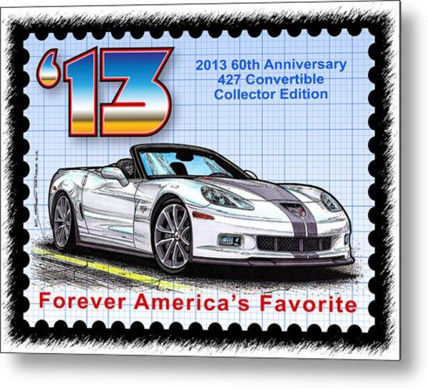 2013 60th Anniversary 427 Convertible Corvette Metal Print