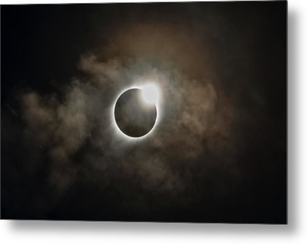 2017 Solar Eclipse Exit Ring Metal Print