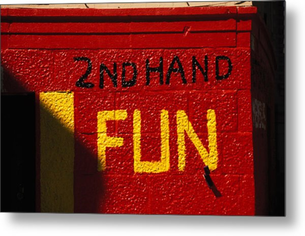 2nd Hand Fun Metal Print by Carl Purcell
