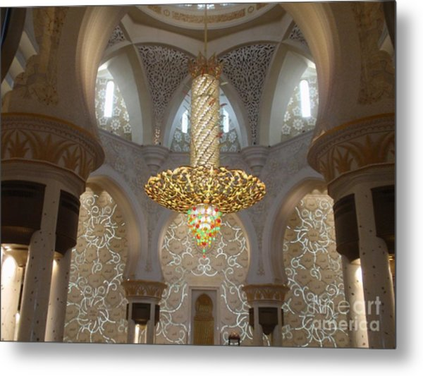 Abu Dhabi Sheikh Zayed Mosque Metal Print by Valia Bradshaw