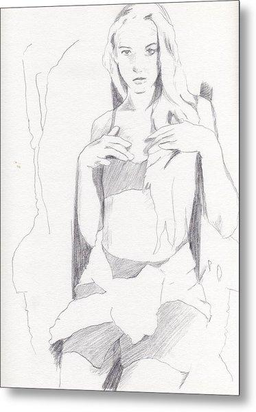 Missy - Sketch Metal Print