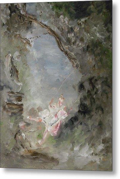 The Swing Metal Print by Edward Wolverton