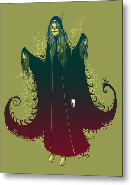 3 Witches Metal Print