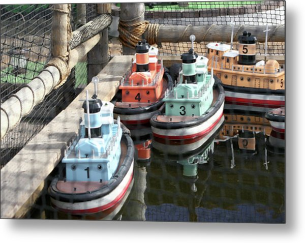 4 Toy Boats Metal Print