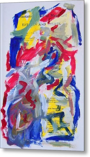 Abstract On Paper No. 26 Metal Print by Michael Henderson
