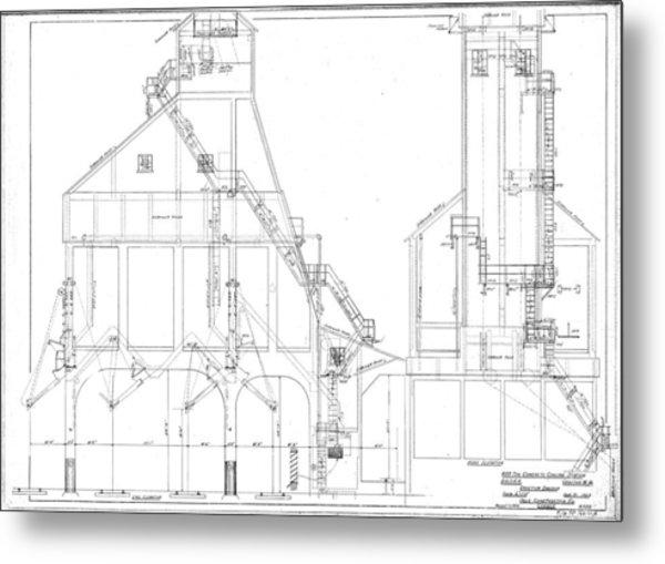 600 Ton Coaling Tower Plans Metal Print