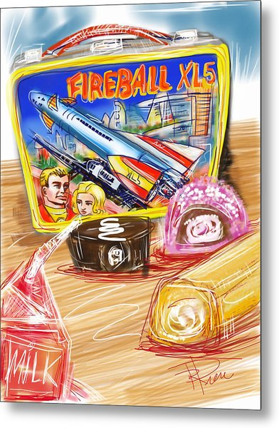 60s Lunch Box Metal Print by Russell Pierce