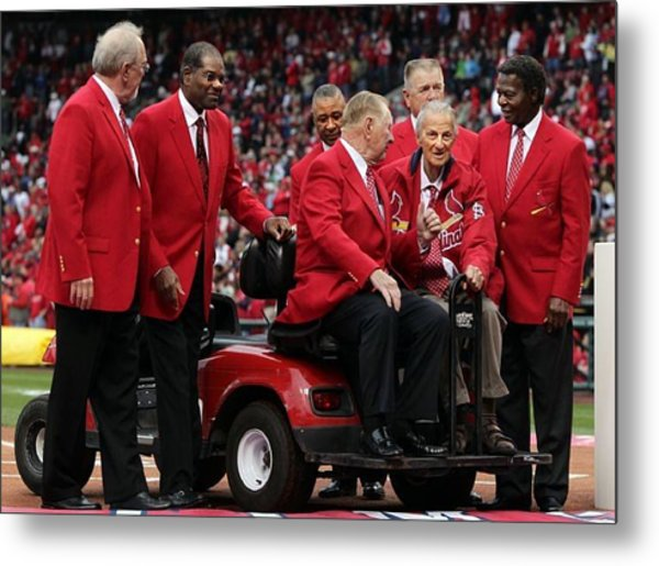 7 Cardinal Hall Of Famers Metal Print